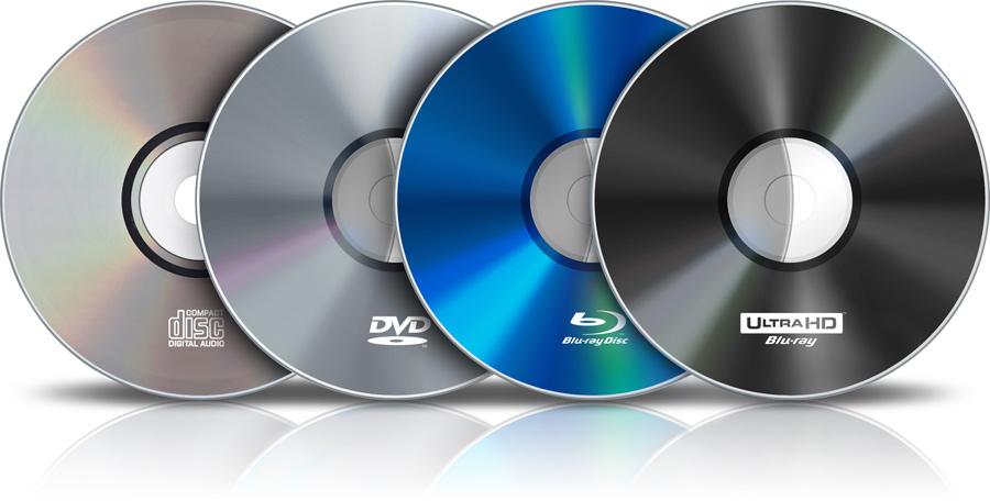 DVD Blu-ray discs