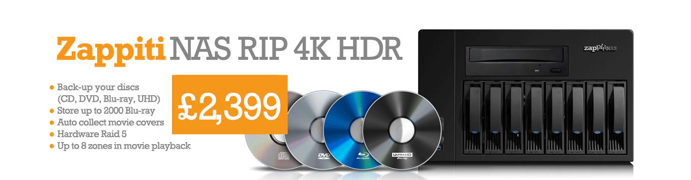 Zappiti NAS RIP 4K HDR